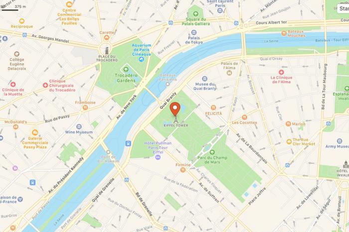 DuckDuckGo uses the efficiency of Apple Maps