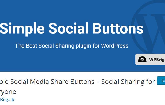 Simple Social Buttons Plugin vulnerability allows user access to WordPress website admin Dashboard