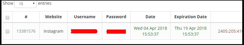 Haker victim data