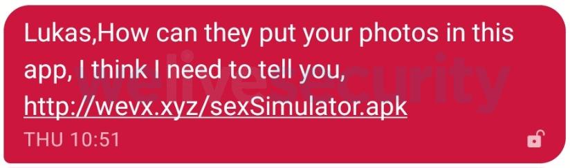 Malicious SMS