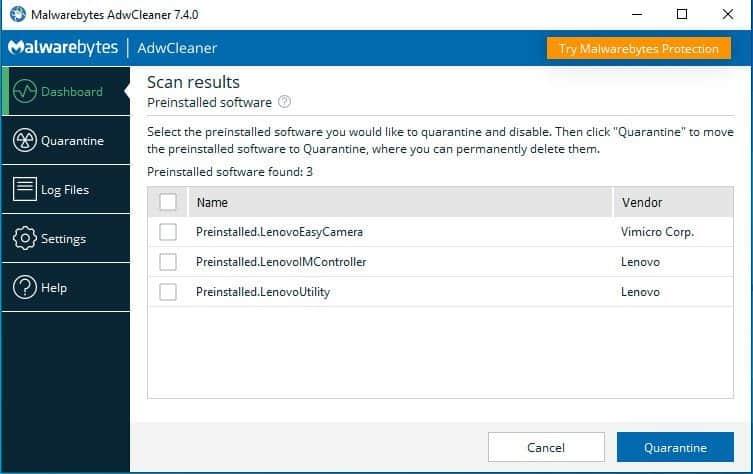 AdwCleaner 7 4 Malwarebytes Can Remove Windows Bloatware