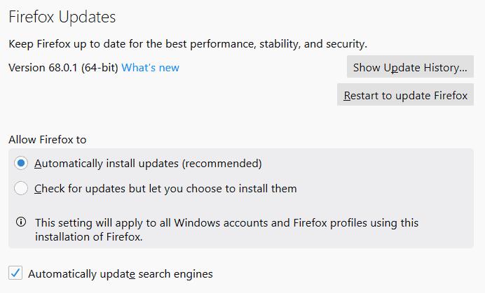 Firefox Autoupdate