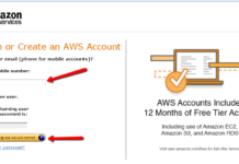 Amazon AWS account creation