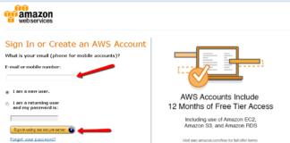Amazon AWS account creation