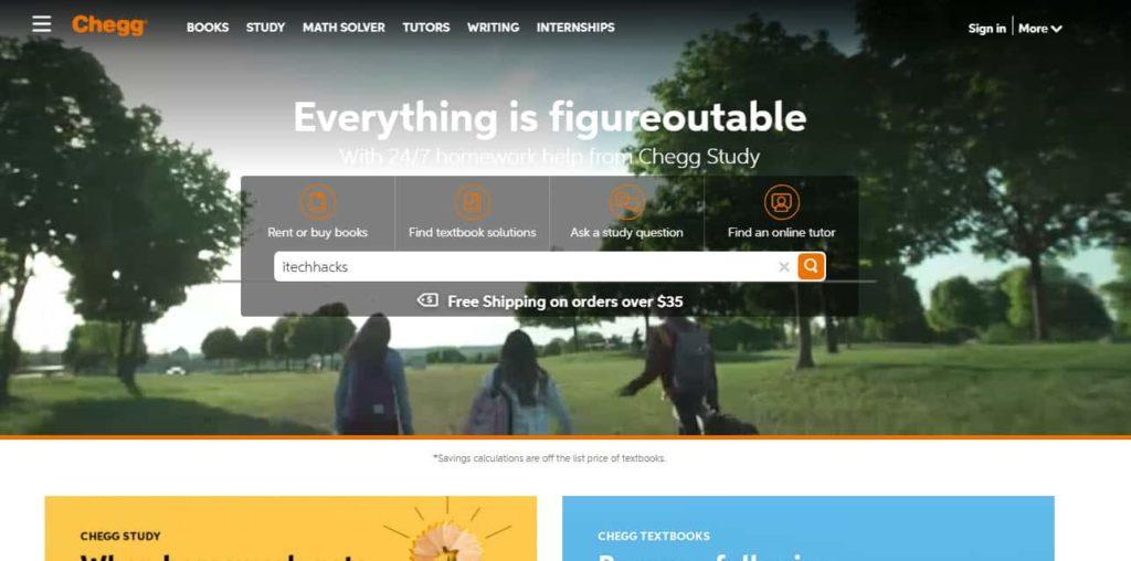 Chegg-homepage