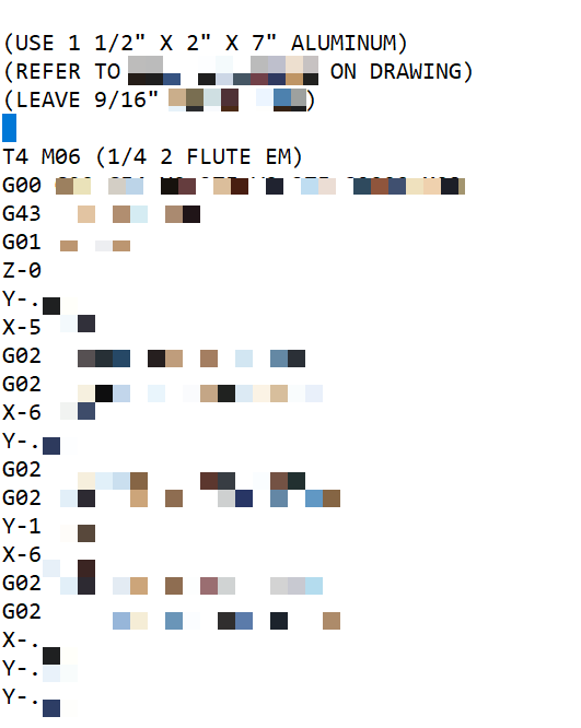 gcode sample doorcontrolsusa screenshot